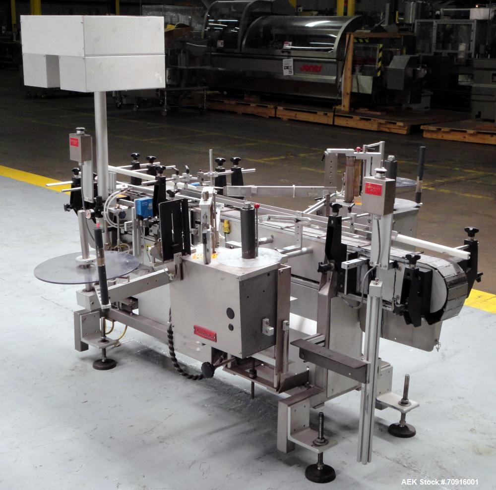 Used- Accraply Model 350 PTE Front and Back Tamper Evident Labeler