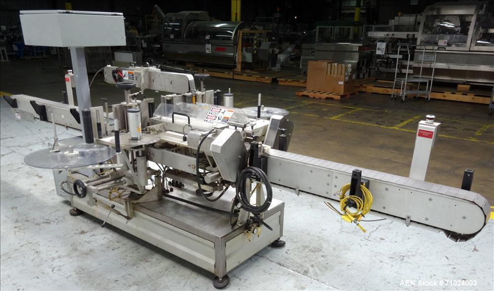 Used- Accraply Model 350PW Front and Back Pressure Sensitive Labeler