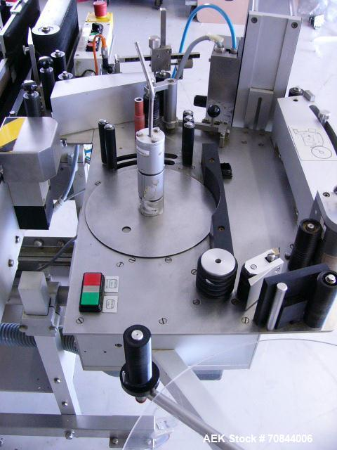 Used-Bausch & Stroebel Self-Adhesive Label Machine for Bottles.  Diameter from 16 mm up to 160 mm.  Height from 35 mm up to ...