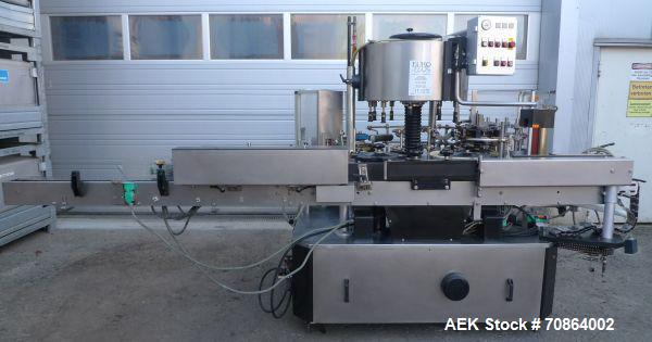 Used-Krones Universella Labeler.  Maximum capacity 5000 bottles/h.  (2) Stations.  For bottles sized 23 fl ox and 33 fl oz (...