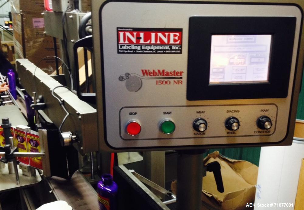 Used- WebMaster Pressure Sensitive In-Line Labeler, Model 1500NR