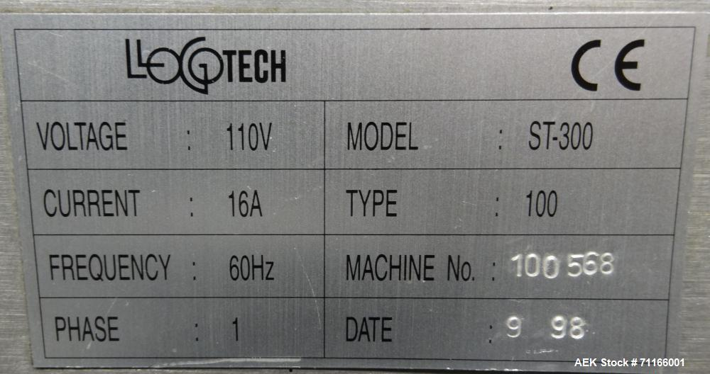 Used- LogoTech Model ST-300 Automatic Pressure Sensitive Front, Back, and Wrap L