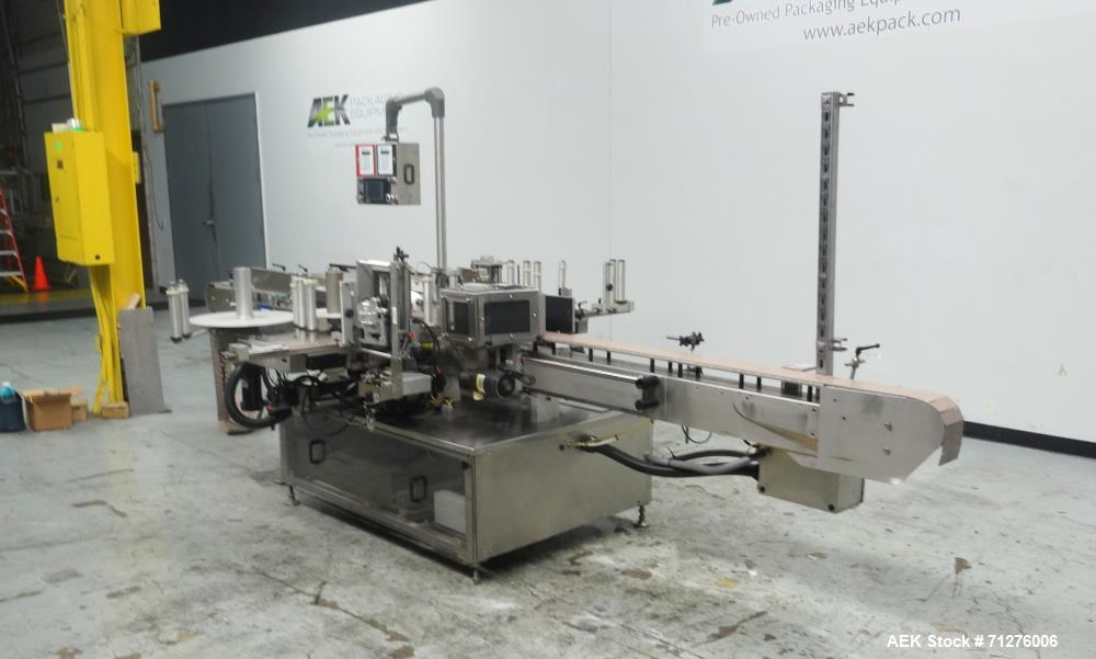 Used- New Jersey Machine Front Back and Wraparound Pressure Labeler