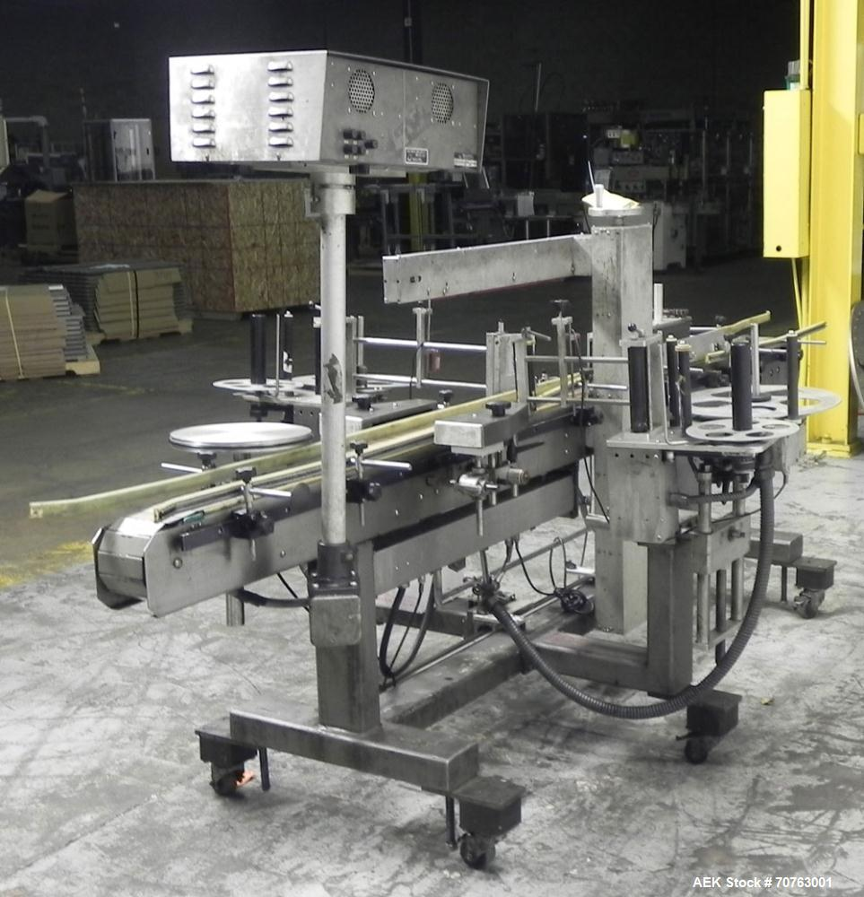 Used- Quadrel Versaline 2000 Front Back and Wrap Pressure Senisitve Labeler