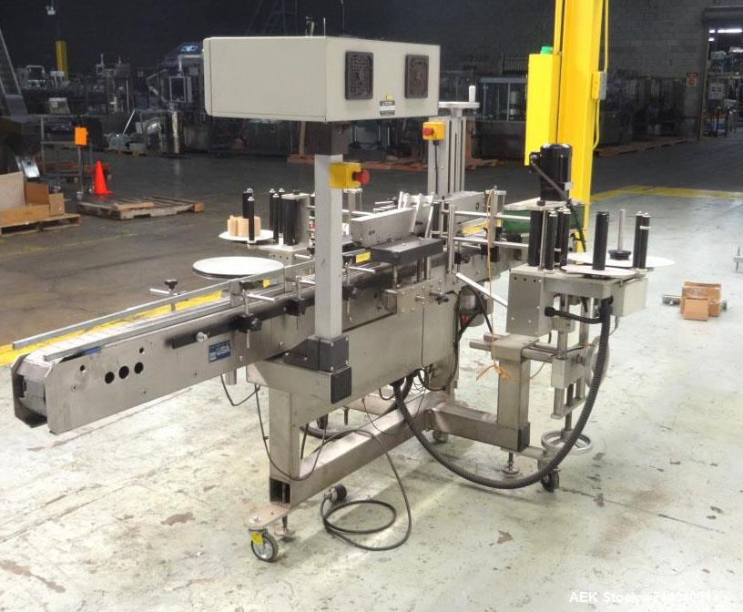 Used- Quadrel Double Head Front Back and Wrap Pressure Sensitive Labeler