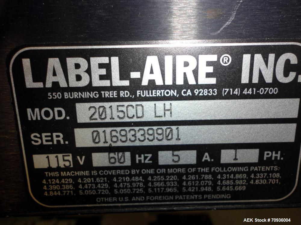 Used- Label-Aire Model 2139C Print and Apply Corner Wrap Machine