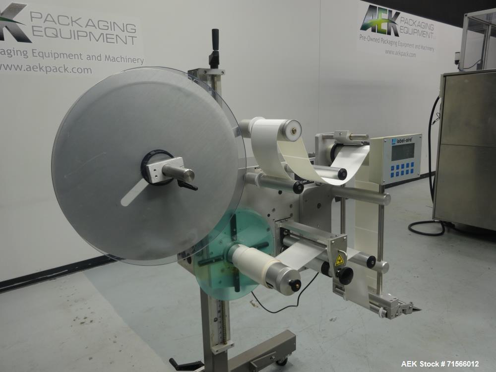 Used- Labelaire Model 3115NV-1500 Wipe-On Pressure-Sensitive Labeler