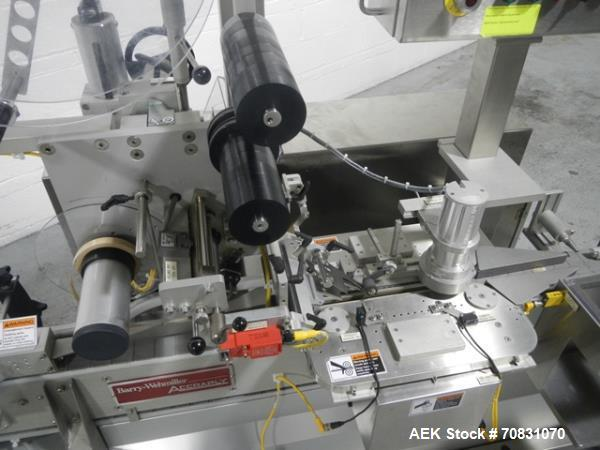 Used- Barry Wehmiller Accraply top labeler, model 350T