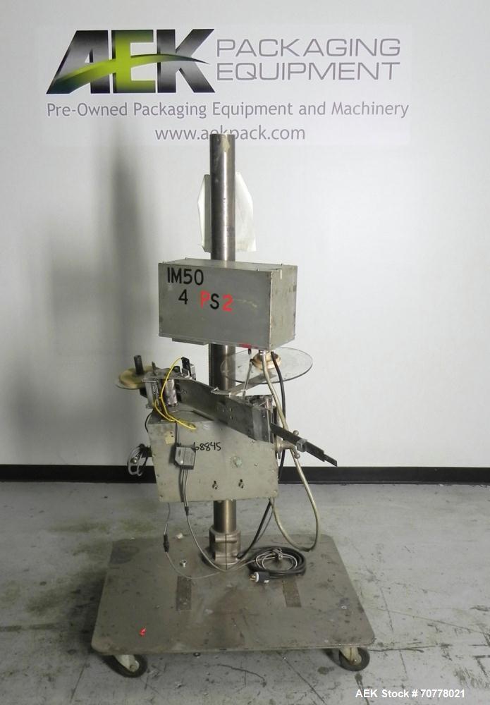 Used- Accraply Model IM-50 Pressure Sensitive Spot Labeler