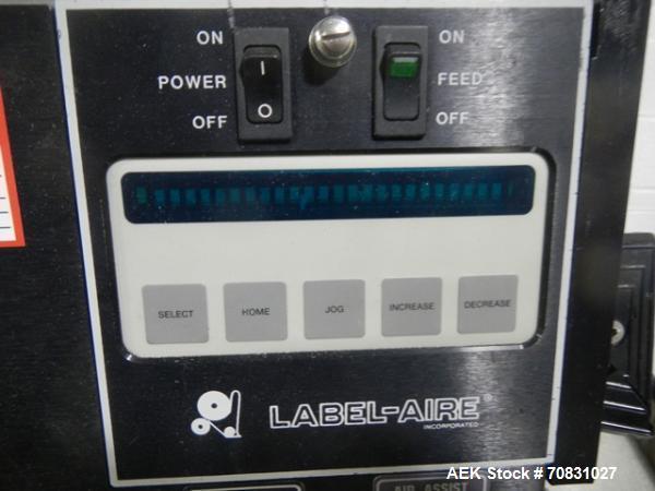 Used- Label-Aire 2111M Pressure Sensitive Labeler