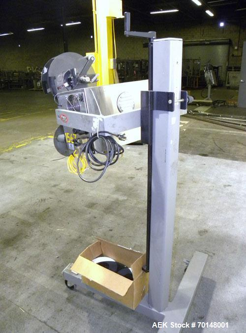 Used- Label-Aire Model 2114 CDL High Speed Pressure Sensitive Spot Labeler. Machine is capable of speeds up to 1250 linear i...