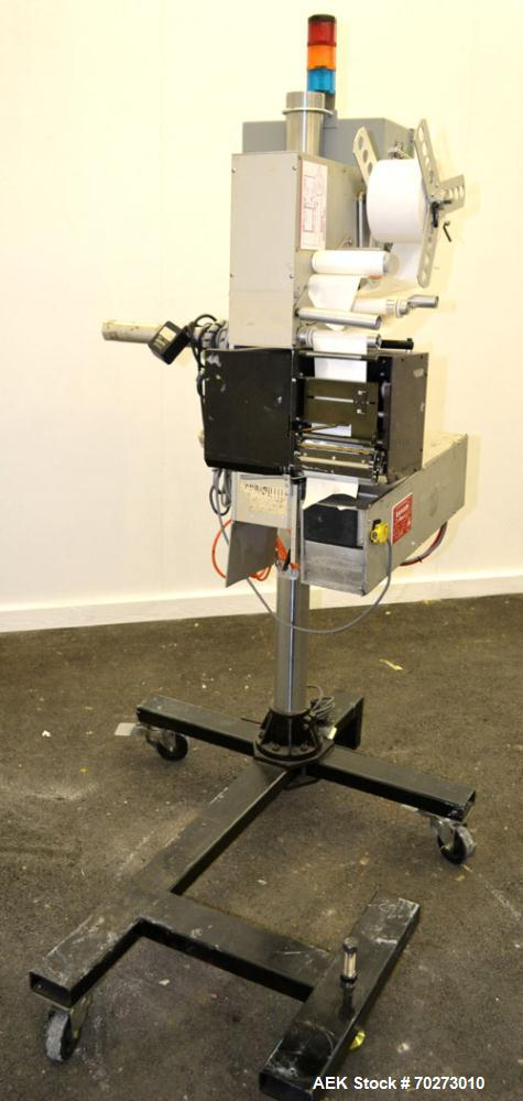 Used- Lord Label Systems Print & Apply Portable Pressure Sensitive Labeler. Includes a Sato bar code printer, model M-8400S....