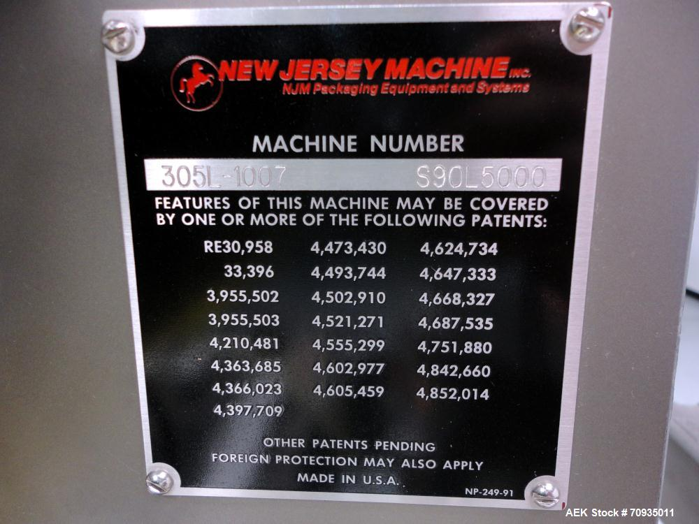 Used- New Jersey Machinery Auto-Colt Model 305 Pressure Sensitive Labeler