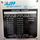 Used- New Jersey Machine 305SL Colt Pressure Sensitive Labeler. Machine is rated at speeds of up to 800