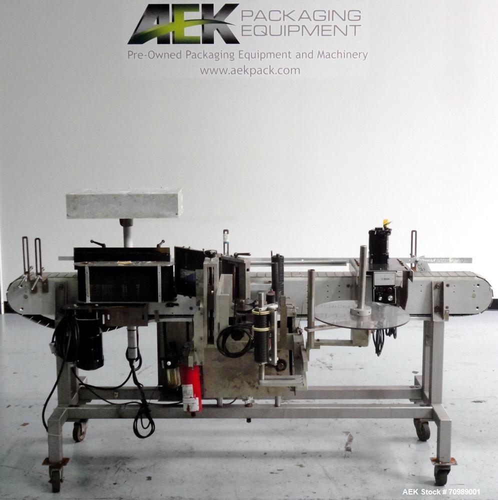 Used- Accraply Model 356 pressure sensitive wraparound labeler