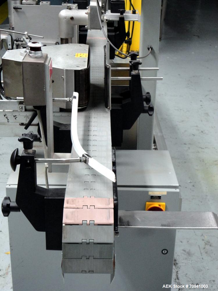 Used- Accraply Model 35PW Wraparound Pressure Sensitive Labeler
