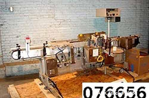 """Used- Accraply Model 35PW Pressure Sensitive Labeler. Conveyorized wrap. Min and max label size: max 6"""" high x 12"""" long. Min..."""