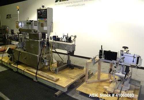 Used- Accraply Model 4000-PWInline Automatic Wrap Around Pressure Sensitive Labe