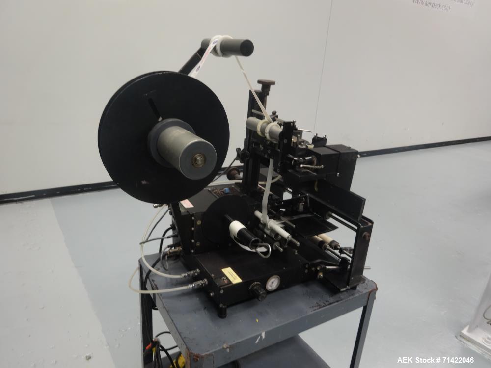 Used- Auto Labe Model 550 Semi Automatic Pressure Sensitive Wrap Around Labeler