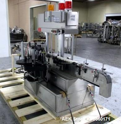 """Used- Avery labeler, model ULIIIWA, 23"""" infeed screw, 140"""" overall conveyor length, with coder (no printer), 115 volt, seria..."""