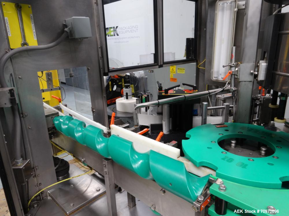 Used- Krones 9-Head Rotary Labeler, Model Autocol.