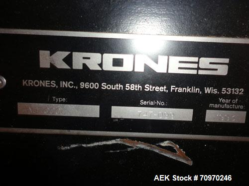 Used- Krones Autocol (18) Head Rotary Labeler