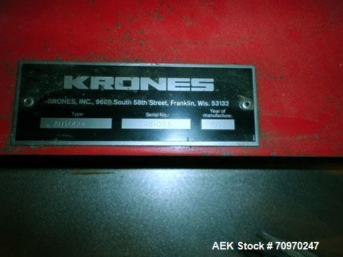 Used- Krones Autocol Labeler