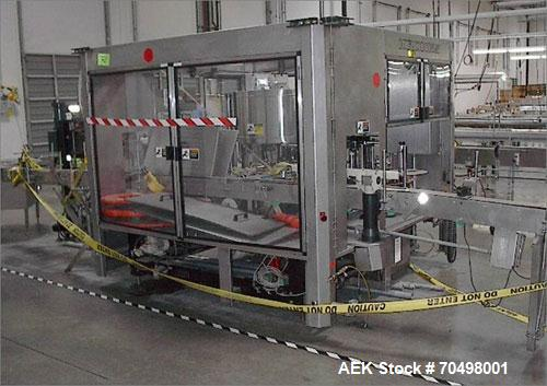 Used-Krones Autocol Rotary Wraparound or Front and Back Pressure Sensitive Labeler capable of speeds from 100 to 300 bottles...
