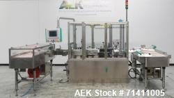 Used- Neri Pressure Sensitive Trunion Wraparound Vial/Ampoule Labeler