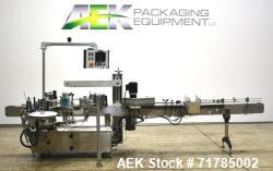 Used- Quadrel Versaline Wraparound Pressure Sensitive Labeler