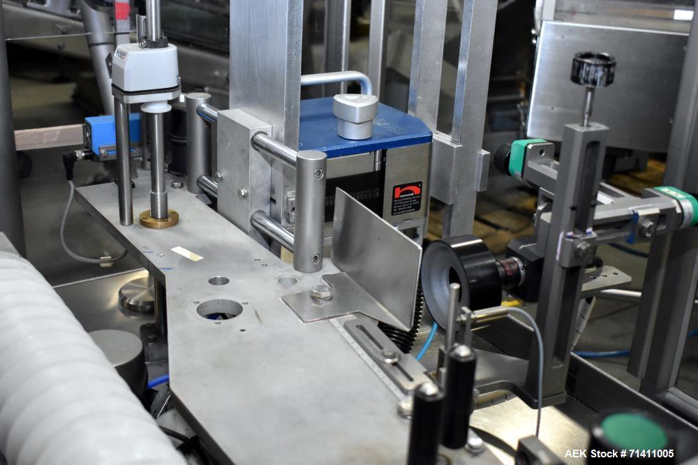 Used- Neri Pressure Sensitive Trunion Wraparound Vial/Ampoule Labeler