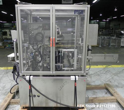 Used- Neri Automatic Pressure Sensitive Wraparound Vial Bottle Labeler