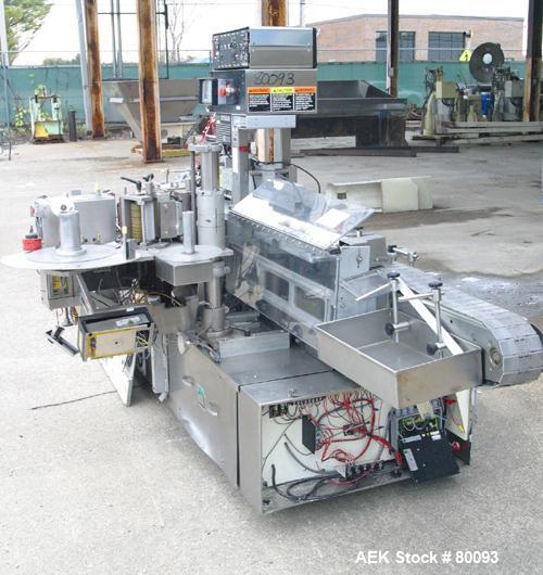 Used-New Jersey Machine Co Model Pacesetter/304L889/311LSBP-327 auto conveyorize