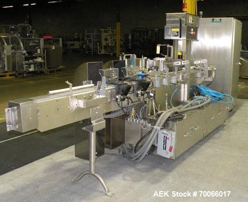 Used- New Jersey Machine Pacesetter Automatic Pressure Sensitive Wraparound Labeler, Model 304R-879