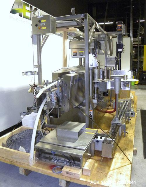 Used- New Jersey 311 Pacesetter Automatic Pressure Sensitive Wraparound Labeler, model 311R/272L-433