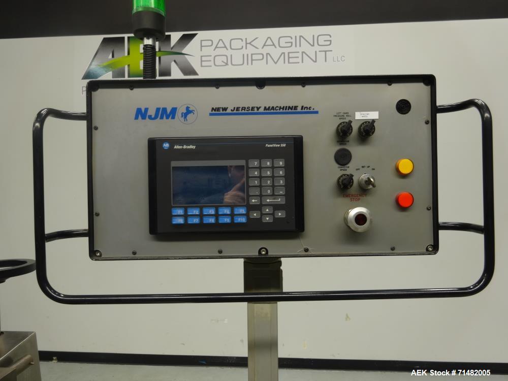Used- New Jersey (NJM) Model 334RDB-181 Pressure Sensitive Labeler