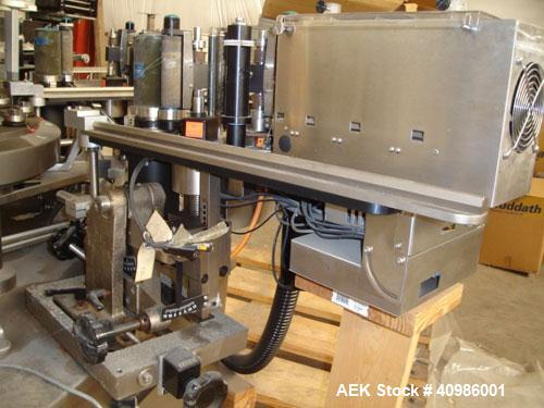 """Used-New Jersey Machine """"Commander"""" Rotary Labeling Machine, Model 337LL. New in 1997 but never used. Container height capac..."""