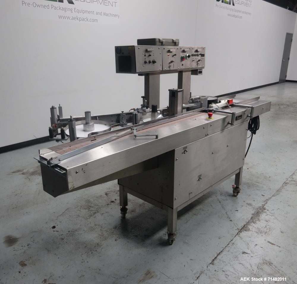Used- Newman Model 4VA Wraparound Pressure Sensitive Labeler