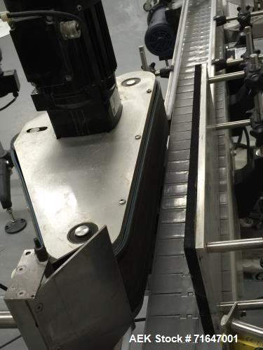 """Used- Quadrel model Q60 Wraparound Pressure Sensitive Labeler with Norwood Hot Stamp Coder. Has a 7"""" labeling head serial nu..."""