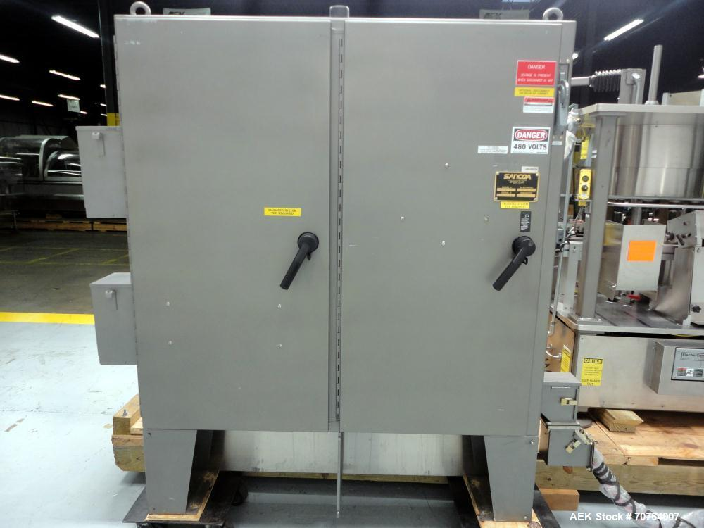 Used- Sancoa (Weiler) PRL-1500 14 Station Rotary Pharmaceutical Labeler.