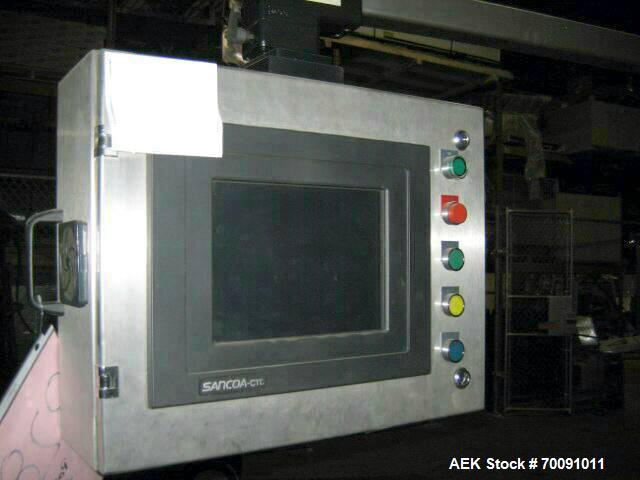 Used-Sancoa Automatic High Speed Redundant Pressure Sensitive Labeler, Model VR2000