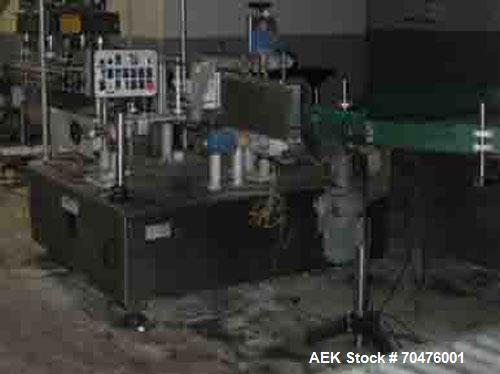 """Used-Tirelli Delta Inline Wraparound Pressure Sensitive Labeler capable of speeds up to 4500 bottles per hour.  Has 10"""" labe..."""