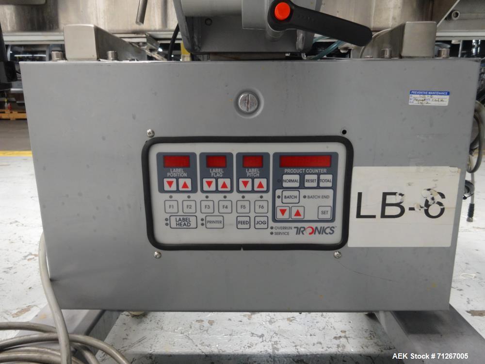 Used- Tronics Model TSA  Pressure Sensitive Wraparound Labeler