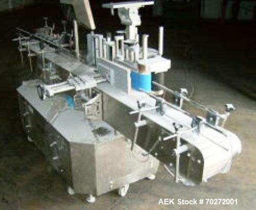 Used- Tronics Series 3 Stainless Steel Labeling Machine Model S3S