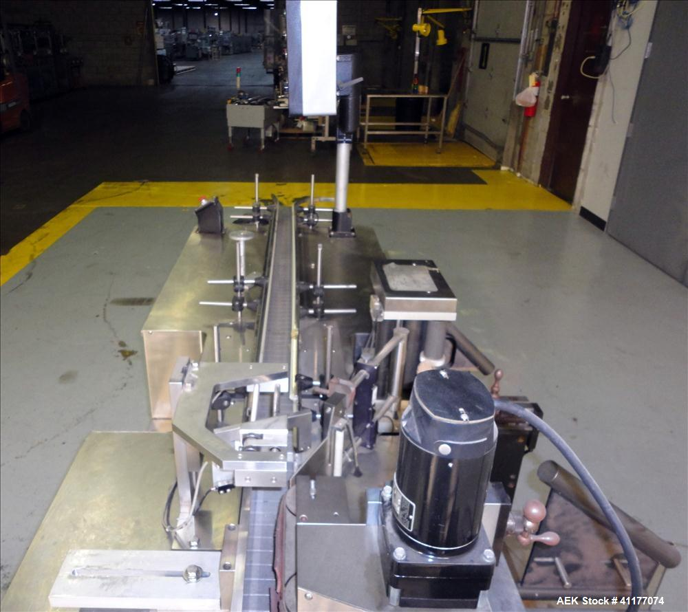 Used- Weiler Engineering Inline Wraparound Pressure Sensitive Labeler