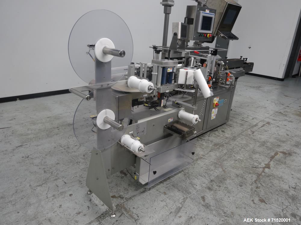 Used- Weiler Labeling Systems Vertical Trunion High Speed Vial Bottle Labeler