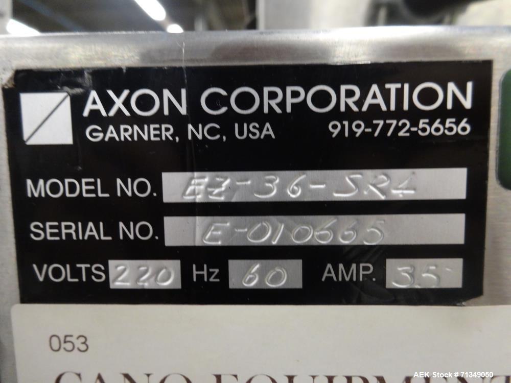 Used- Axon Corporation Tamper Evident Bander Shrink Sleeve Label Applicator