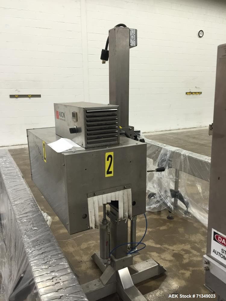 Used- Axon Corporation EZ-100 Tamper Evident Band and Sleeve Label Applicator