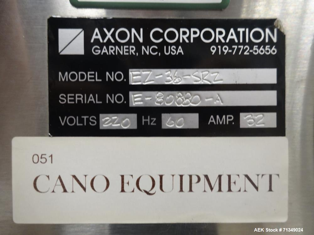 Used- Axon Corporation EZ-36 Shrink Tunnel and Conveyor
