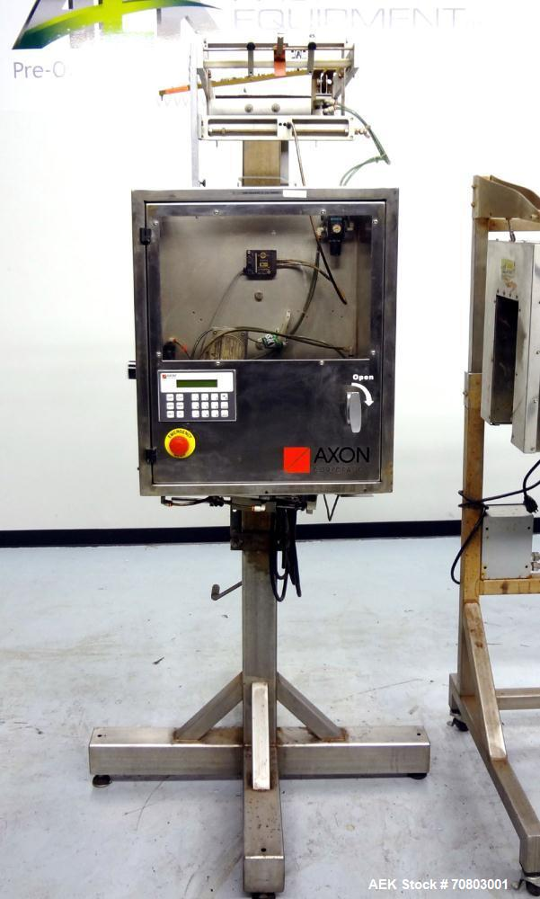 """Used- Axon """"Styrotech"""" EZ-200 Sleeve Labeler or Tamper Evident Band Applicator,"""